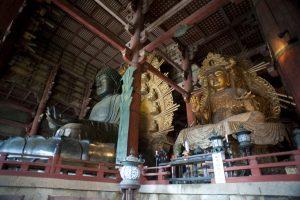 The Vairocana Buddha inside the Todaiji temple at Nara, japan